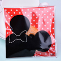 100pcs 10x10cm Mickey mouse Biscuit bags Candy package birthday Party Decorations kids wedding decor Gift bags CSB003