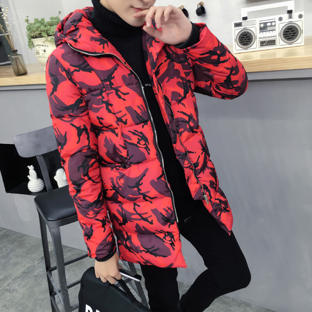 Plus Size M-5XL Man Parkas New Tops Fashion Print Style Warm Jackets vestidos casual dresses down coat parka men winter jacket