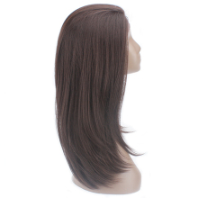 Synthetic Lace Front Wigs For Black Women Ombre Brown Color Long Soft Straight Wig Free Part 13×4 Lace Frontal Hairpiece