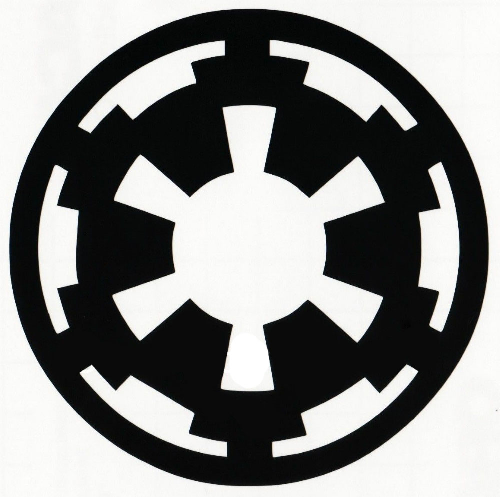 car styling wholesale star wars galactic empire logo. Black Bedroom Furniture Sets. Home Design Ideas
