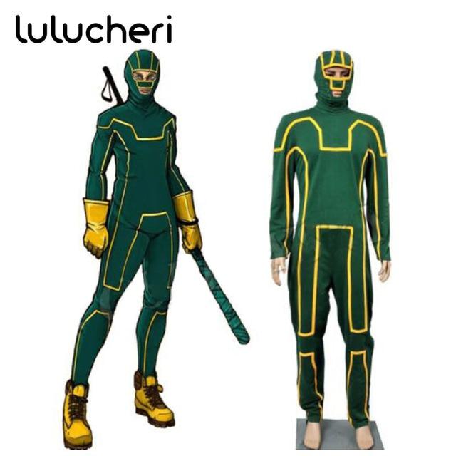 Kick Ass Dave Lizewski Green Jumpsuit Cosplay Costume Custom Made