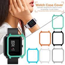 Smart Watch Protector kaitseümbris Huami Amazfit Bip noortele Vaata Slim värvikas raam PC ümbris Kaitsev kate