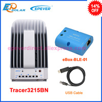24v 780w system use Tracer3215BN MPPT solar portable controller 30A 30amp USB cable and bluetooth function 12v 24v auto work