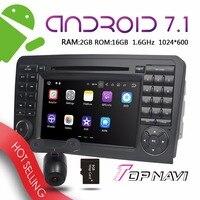 Topnavi 7 ''Android 7.1 авто мультимедиа для класса ML W164 GL X164 автомобиля GPS навигация руль Управление PC игроков WiFi 3G