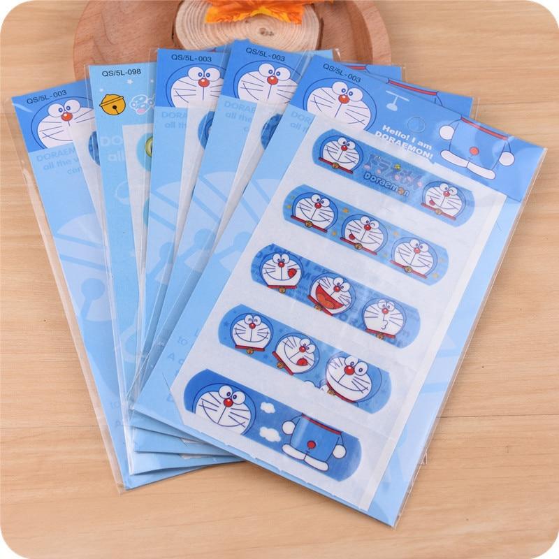 20 Set/100 Pcs Cute Hello Kitty Doraemon Waterproof Band-Aid Bandage Sticker Baby Kids Care First Band Aid Travel Emergency Kit стоимость