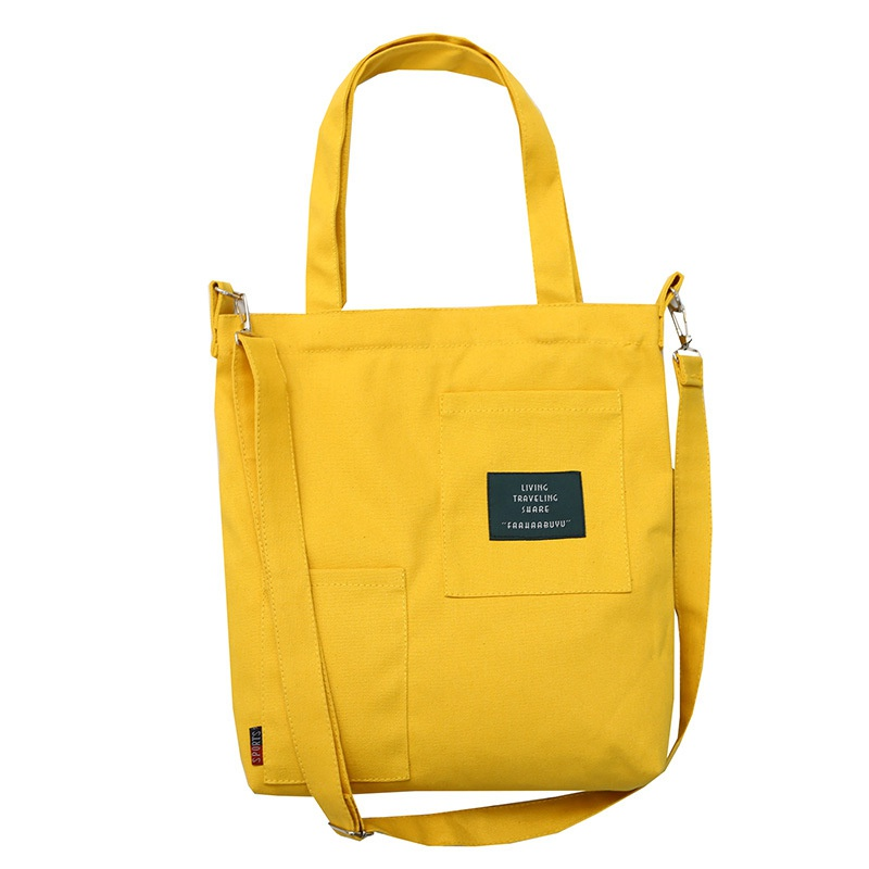 Women Casual Canvas Handbags Solid Color Zippers Shoulder Bags Environmental Reusable Shopping Bags Soft Handle Crossbody BagsWomen Casual Canvas Handbags Solid Color Zippers Shoulder Bags Environmental Reusable Shopping Bags Soft Handle Crossbody Bags
