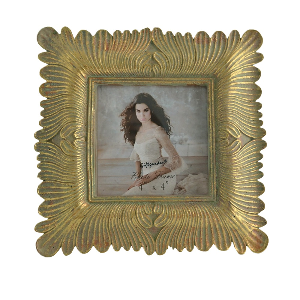 Giftgarden 4x4 Photo Frame Vintage Gold Antique Picture Frame ...