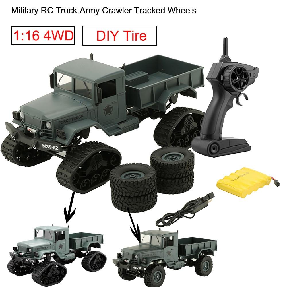 FY001C RC Auto RC Militär Lkw Armee Verfolgt Räder 1:16 4WD RC Crawler Off Road Remote Gesteuert Maschine für Radio Control Car-in RC-Autos aus Spielzeug und Hobbys bei  Gruppe 2