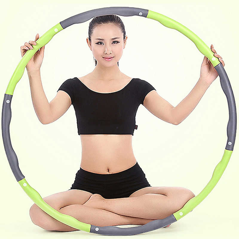 Sport Hoops Weighted Exercise Sport Hoops for Adults Adjustable 8 Detachable Sections Weight Loss Fitness for Exercise