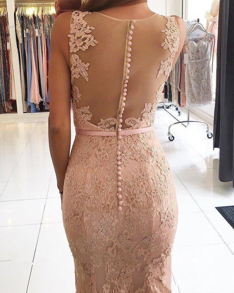 New Charming Illusion Lace Appliques Mermaid Evening Dresses Prom Party Dresses Formal Dresses for Women Plus Size Gowns