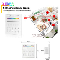 Smart Panel Remote Controller T3 Milight 4 Zone AC220V RGB RGBW And Brightness Dimming For Led