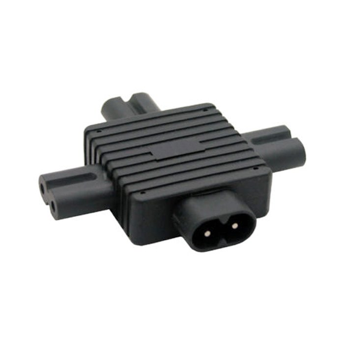 IEC 320 IEC320 IEC Figure 8 C8 Male to 3X Female C7 plug Splitter Power Adapter connector for Power Supply 1 in 3 out new iec 320 c7 c8 figure 8 left right angle ac power adapt c7 to c8 plug converter ja605