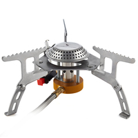 Boundless Voyage Outdoor Camping Backpacking Gas Stove Split Cookout Hiking Burner Electronic Ignition Stoves 3500W BV1002