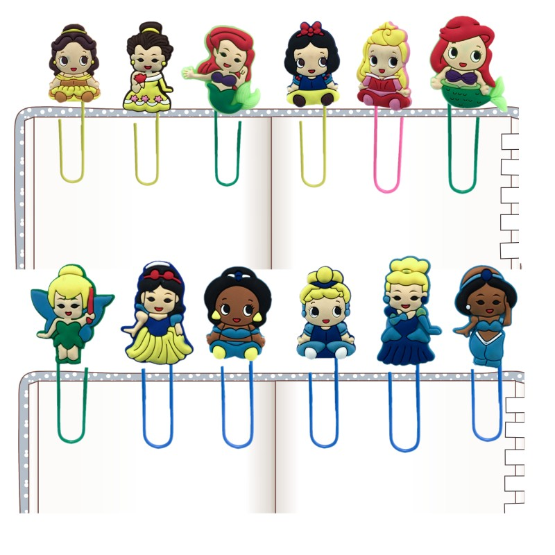100pcs Mermaid Kawaii Bookmarks For Girls Hot Cartoon Paper Clips Page Holder For School Student Teacher Office Supply Kids Gift