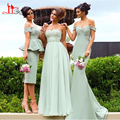 2017 Arabic Mix Style Vintage Bridesmaid Dress Custom Made Lace Wedding Guest Gowns 3 Styles Country Maid of Honor Dress