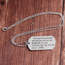 Silver'The Only Thing Better Than Having You' Hot Sale Family Jewelry Father's Day Gift Tag Engraved Love Pendant Necklace(China)
