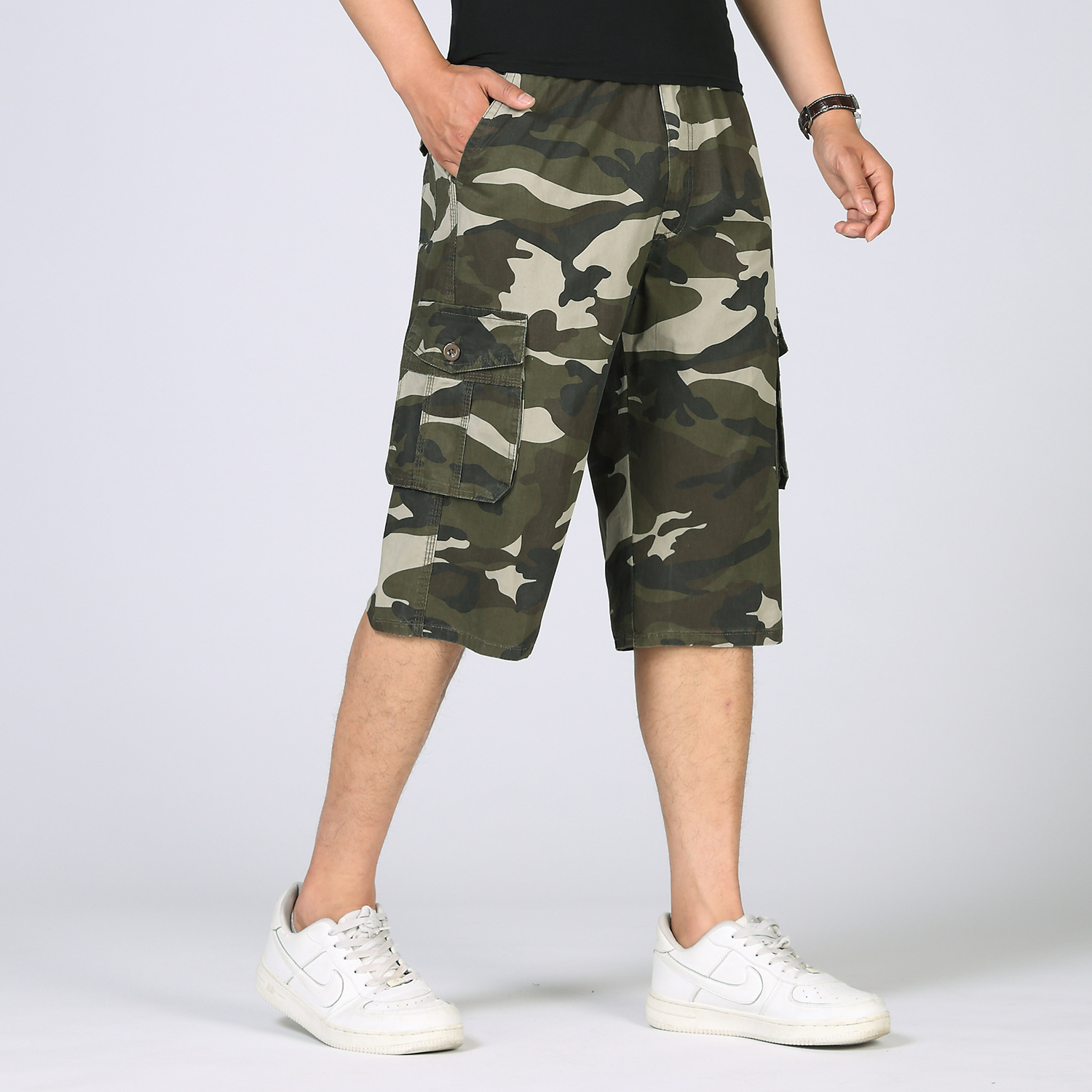 Camouflage Camo Cargo Shorts Men 2017 New Mens Casual Shorts Male Loose Work Shorts Man Suit Military Short Pants Plus Size