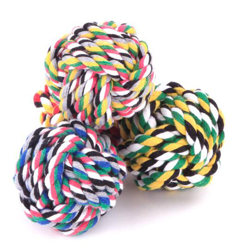 1 Unids Color Al Azar Bola De Tejido de Algodón Gato Productos Para Mascotas, ag