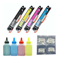 4 cartridge +4 toner +4 chips for CE310A 126A 126a Color Toner Cartridge for HP CP1025 CP1025nw, MFP M175 M275 M275nw impressora
