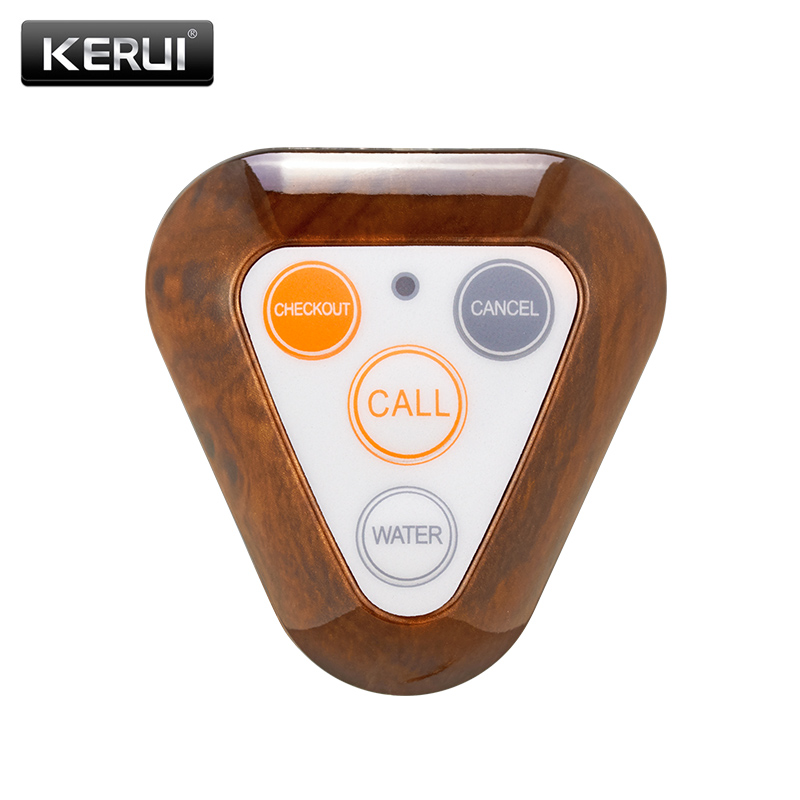 KERUI 433MHz Restaurant Pager Wireless Waiter Calling System Call Button Pager Restaurant Equipments Remote Control wireless table call system monitor bell buzzer used in the cafe bar restaurant 433 92mhz 2 display 1 watch 18 call button