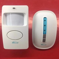Wireless Digital Doorbell with PIR Sensor, Infrared Induction Alarm Door Bell,