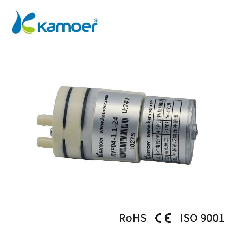 Kamoer KVP04 12В/24В мини мембранный вакуумный насос электрический воздушный насос с низким расходом 1.1л/мин и низким уровнем шума