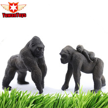 Lifelike Animals The King Of Jungle Gorillas Model Hand Paind Solid PVC Collectible Toys Christmas Gifts