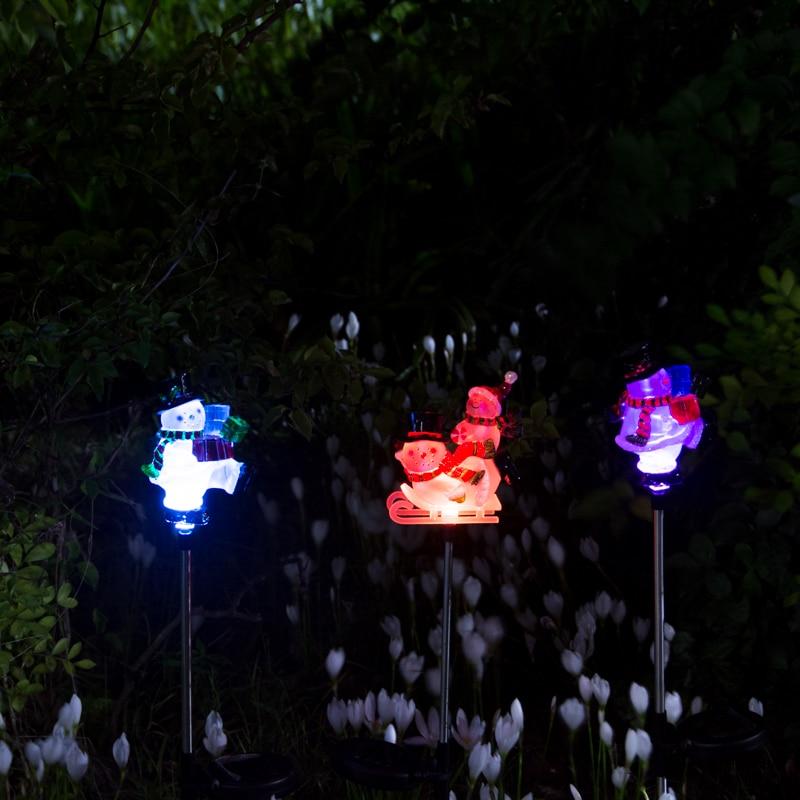 Buy pearlstar snowman led solar plug for Christmas star outdoor lights decorations
