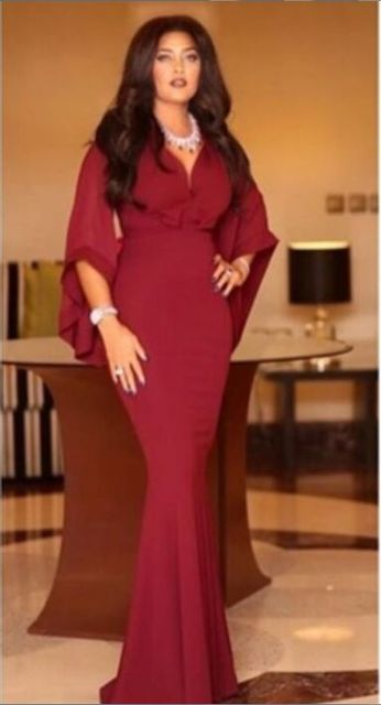1c0de27e3b1 In Fashion Sexy V Neck Burgundy Mermaid Prom Dress 2016 Latest Design Long  Evening Gowns plus Size Custom Made Lady Party Gown