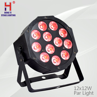 12X12W LED Par light RGBW 4in1 flat mini stage par light DMX professional dj equipment