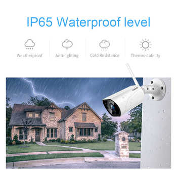 FREDI Outdoor IP Camera WiFi 1080P 2.0MP Wireless Wired CCTV Bullet Camera Infrared Night Vision Motion Detection IP Camera