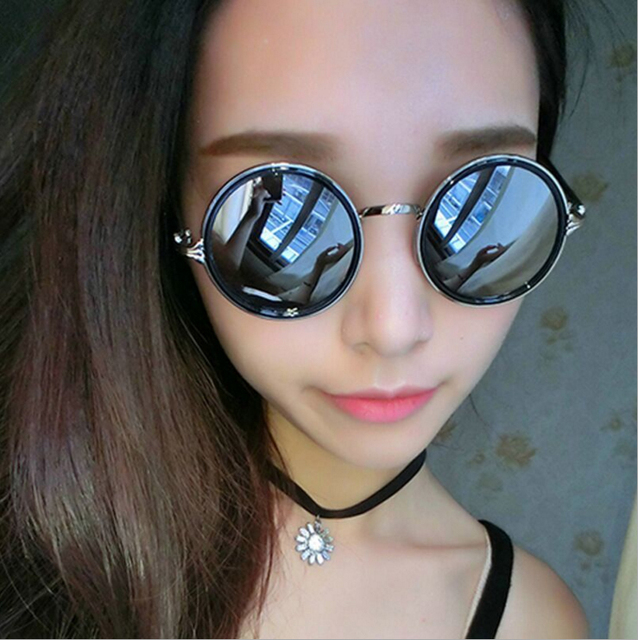 24544d117ec Women Brand Designer Round Mirror Sunglasses John Lennon Luxury Sun Glasses  For Women Cool Retro Female Sunglasses Oculos 2018