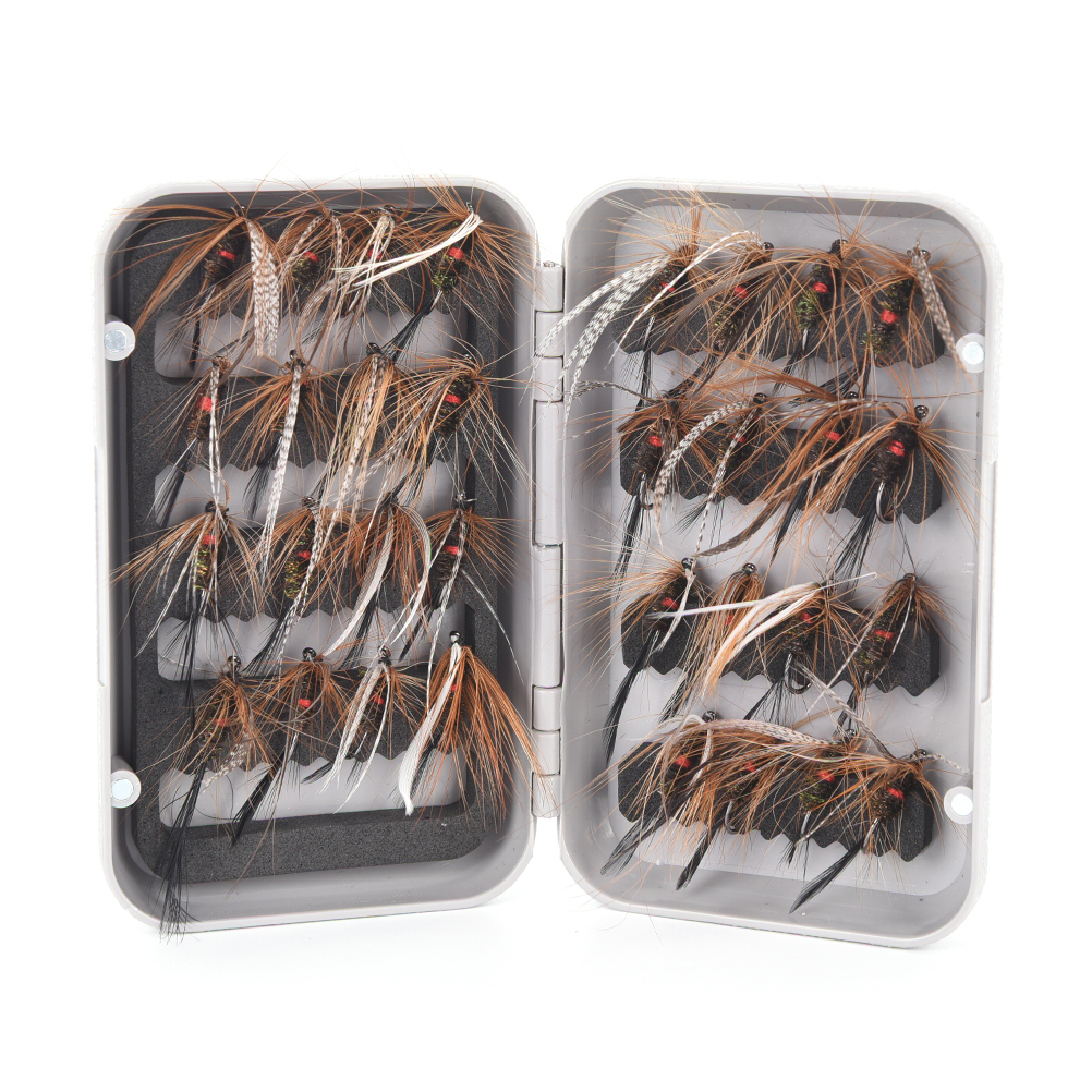 32Pcs Vivid Dry Fly Hooks Fishing Baits Trout Salmon Dry Flies Fish Hook Lures