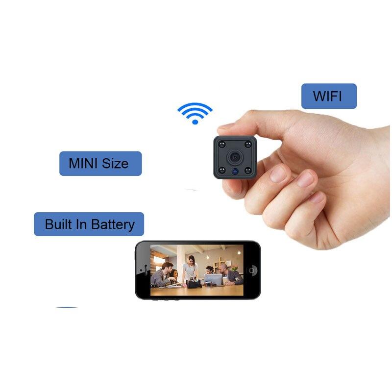 Wifi Mini caméra 1080 P 2MP sécurité à domicile IP caméra sans fil buitle-in batterie capteur de mouvement bidirectionnel Audio Surevillance Micro Cam