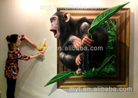 Monkey Painting Hand Painted Oil Painting On Canvas For Home Decor Wall Painting No Framed 3d