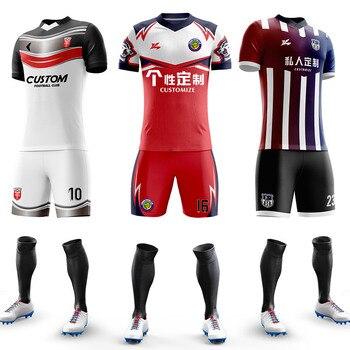Custom Football Jerseys Full Sublimation Printing Soccer Club Team Training Uniform Suit For Men