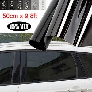 Image 3 - Film teinté pour vitres de voiture, pour véhicules, autocollant, noir, 15%