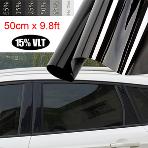 Image 3 - Vehículos/película tintada de ventana de coche 15% negro para ventanas de coche pegatinas de parasol de vidrio