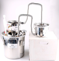 NEW 3 Pots DIY 2 Gal 10 L Home Alcohol Stainless Moonshine Still Water Distiller Boiler Spirits Keg Wine Making Kit