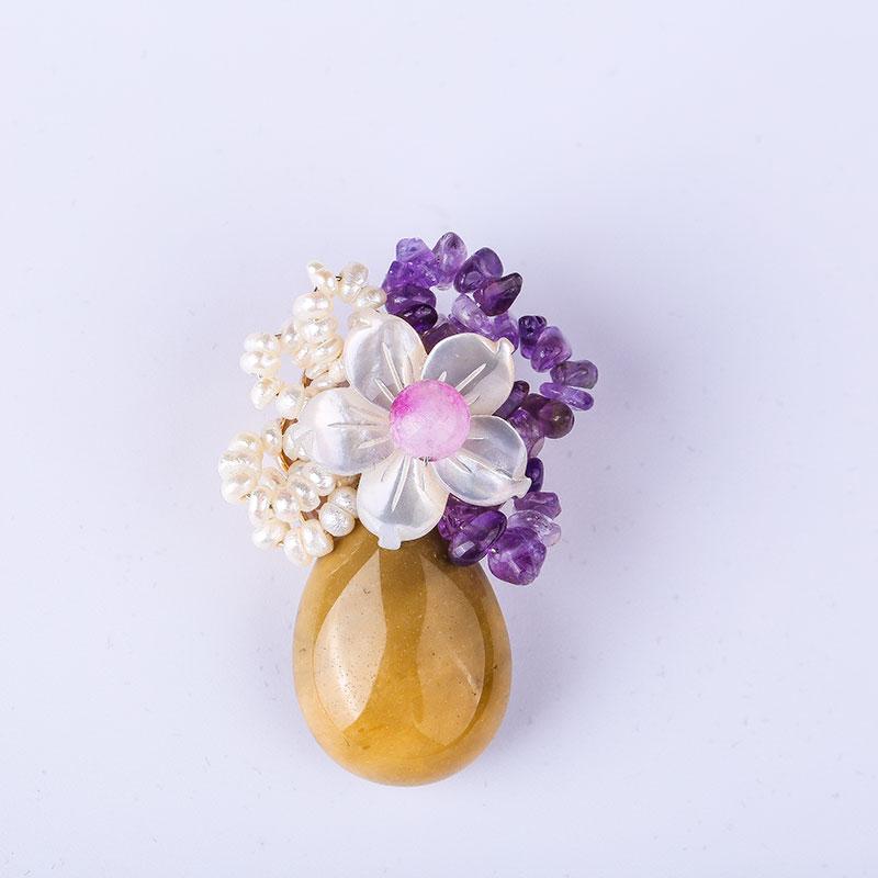 2019 Neuer Stil Geformt Perle Kristall Strass Große Broschen Mode Corsage Frühling Mode Anhänger Pullover Kette Anhänger Freies Verschiffen