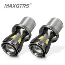 2x новейшие S25 1156 1141 7506 BA15S P21W 1073 светодиодный лампы с проектором для заднего тормоза задние RV указатели поворота Янтарный/желтый
