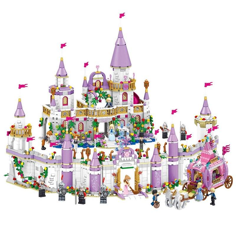 Princess Castle Windsor's Castle Building Blocks Bricks Set DIY Toys Girl Figure Birthday Gifts Compatible With Friends