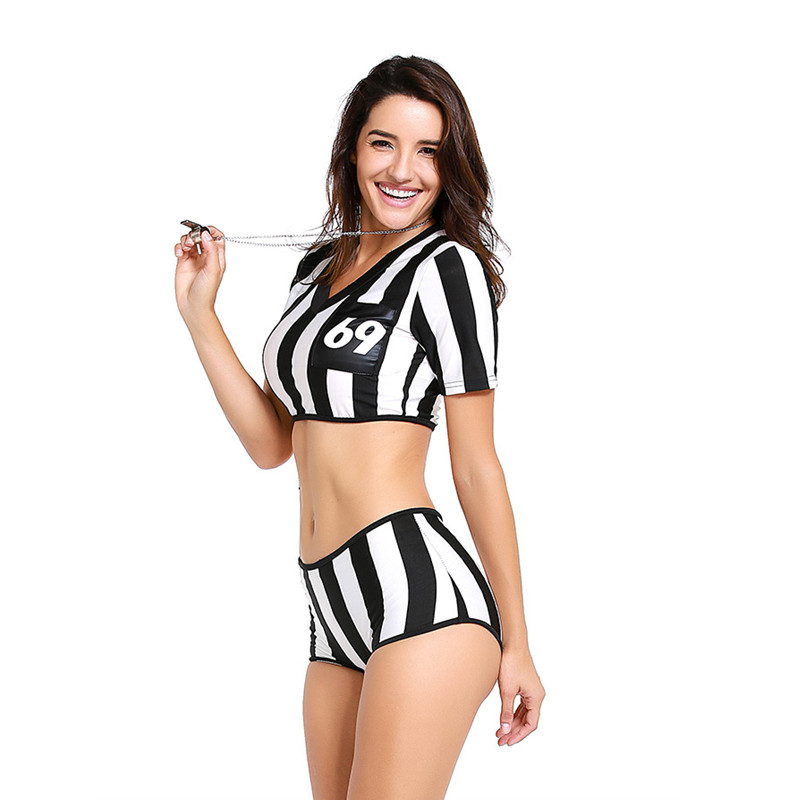 New Sexy Woman Cheerleaders Football Referee uniform Cosplay Female Halloween Football Baby Costume Cheerleading dress on Aliexpress.com | Alibaba Group  sc 1 st  AliExpress.com : referee woman costume  - Germanpascual.Com