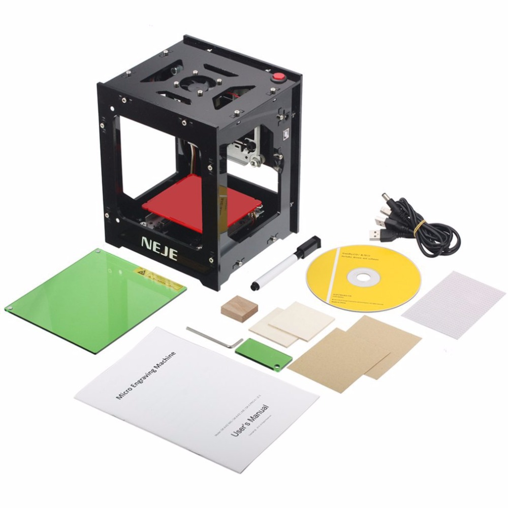DK-8-KZ NEJE 1000 mW/2000 mW/3000 mW Mini Machine de gravure Laser USB CNC automatique routeur en bois graveur Laser imprimante coupe Cutti