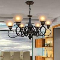 Free Shipping Clearance Sale European Restaurant Chandelier Lamp Living Room Bedroom Villa Stores Iron Minimalist Lighting