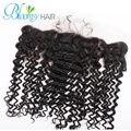 Bloomy Hair Virgin Brazilian Deep Wave Lace Frontal Closure 13x4 With Baby Hair, Deep Wave Swiss Lace Frontal Closure