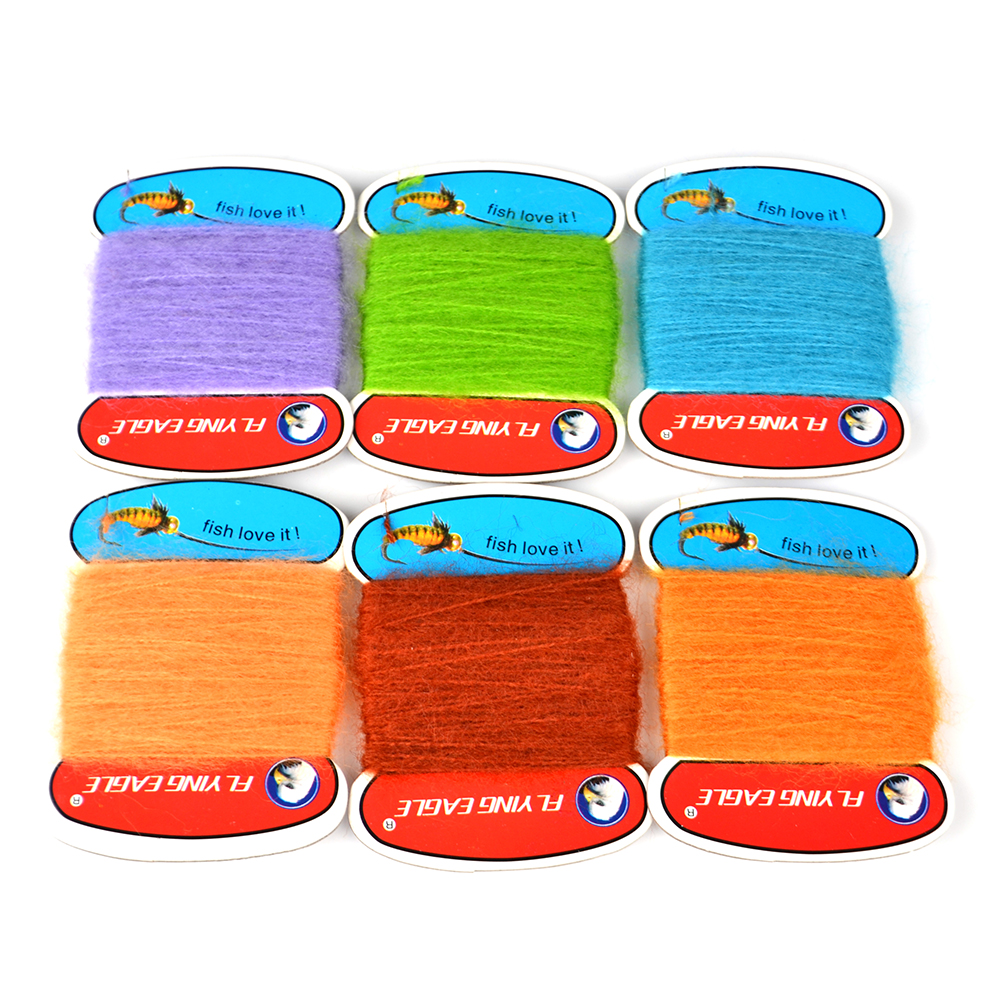 1 Bag Fly Fishing Feather Line Tinsel Chenille Crystal Flash Line DIY Streamer Flies Material Flying Bait Lures