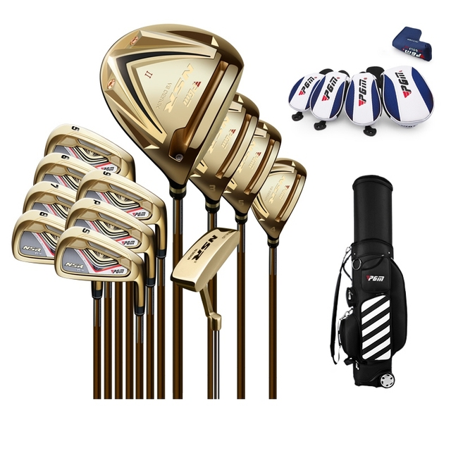 brand PGM collections. 13 pics Luxury MENS golf clubs complete set carbon graphite shaft Titanium Alloy for Rod of Driver