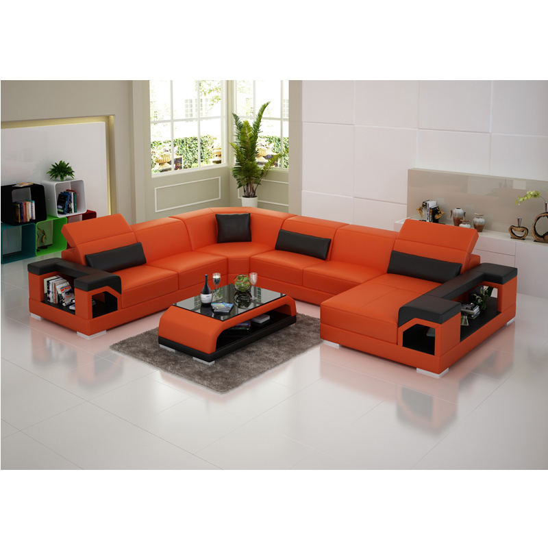 Home Furniture Modest High Class Adjust Headrest Reclining Trend Leather Mart Sofa Living Room Furniture
