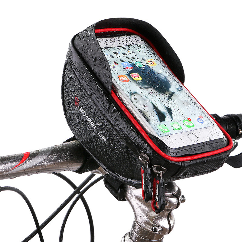 Waterproof Phone Mount Bag Wateproof Universal Cycling Bicycle Frame Pouch Phone Holder 6.0in for Iphone 66s77s8X Storage Case (3)
